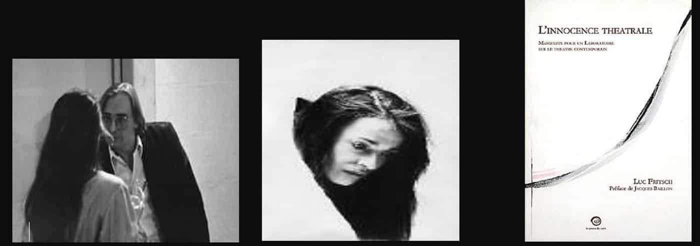 Luc Fritsch au travail avec Corine Sylvia Congiu partenaire de Franck Tonnellier dans La Ballade des Mégots Secs de Bernard Mazeas. THEATRE LABORATOIRE LA PARIADE Varennes-Jarcy (91).